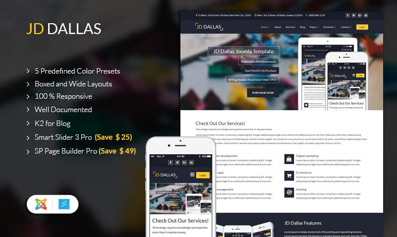 Business Joomla Template JD Dallas